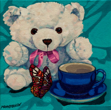 White Bear with Cup
