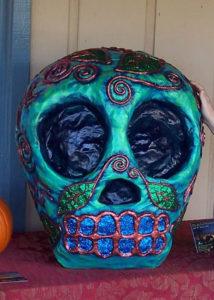 Blue Forest Skull